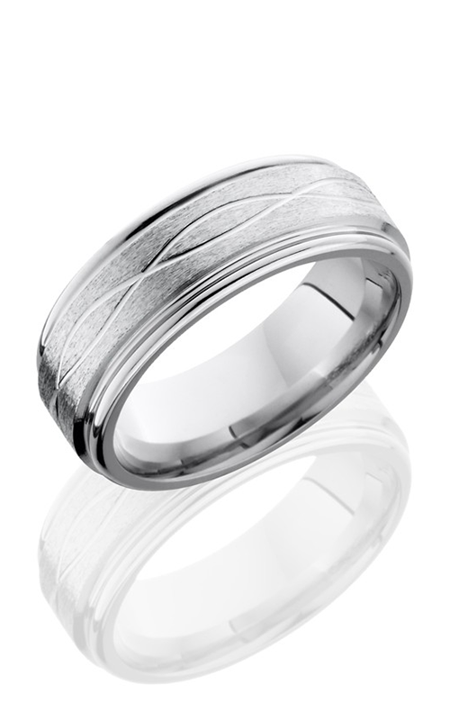 Lashbrook Cobalt Chrome Wedding band CC8REFINF STONE-POLISH product image