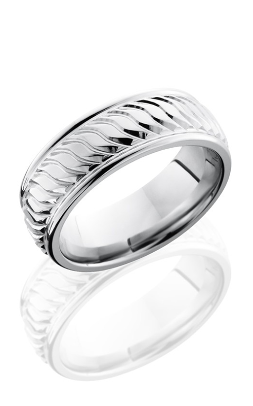 Lashbrook Cobalt Chrome Wedding band CC8REFTWIST POLISH product image