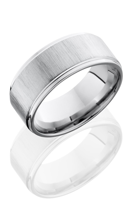 Lashbrook Cobalt Chrome Wedding band CC9FGE CROSS SATIN-POLISH product image