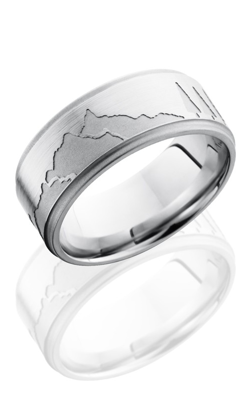 Lashbrook Cobalt Chrome Wedding band CC9FGEMOUNTAIN SAND-SATIN-SAND product image