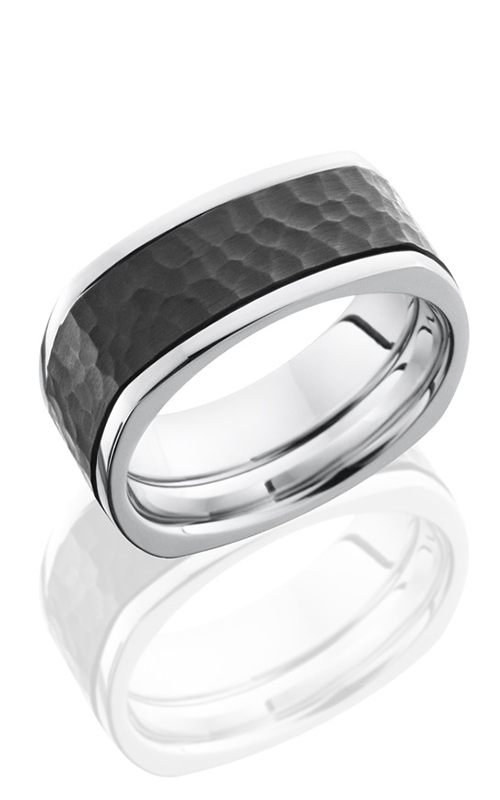 Lashbrook Cobalt Chrome Wedding band CCPF9FSQ16-Z HAMMER-POLISH product image
