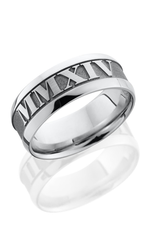 Lashbrook Cobalt Chrome Wedding band CC8WB LCVROMANNUMERAL2 product image