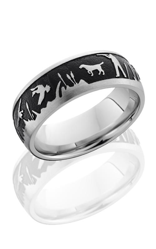 Lashbrook Cobalt Chrome Wedding band CC8D LCVDUCKHUNT BLACK product image