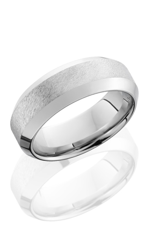 Lashbrook Cobalt Chrome Wedding band CC8WHB ANGLE STONE POLISH product image