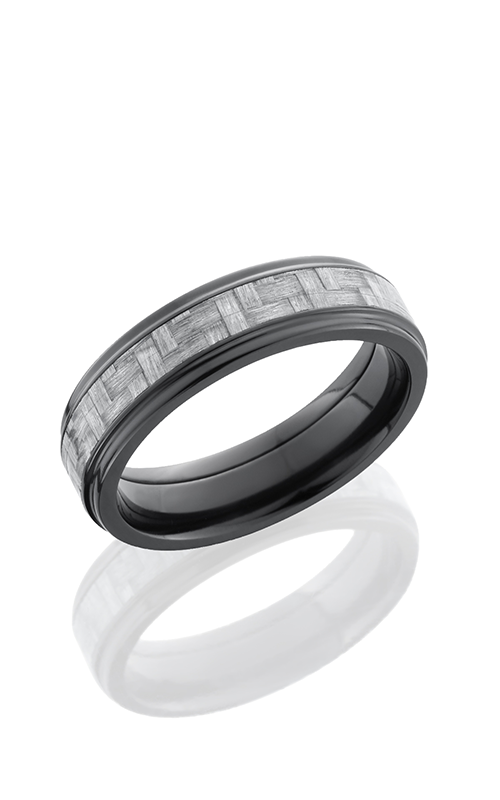 Lashbrook Carbon Fiber Wedding band ZC6FGE13 SILVERCF POLISH product image
