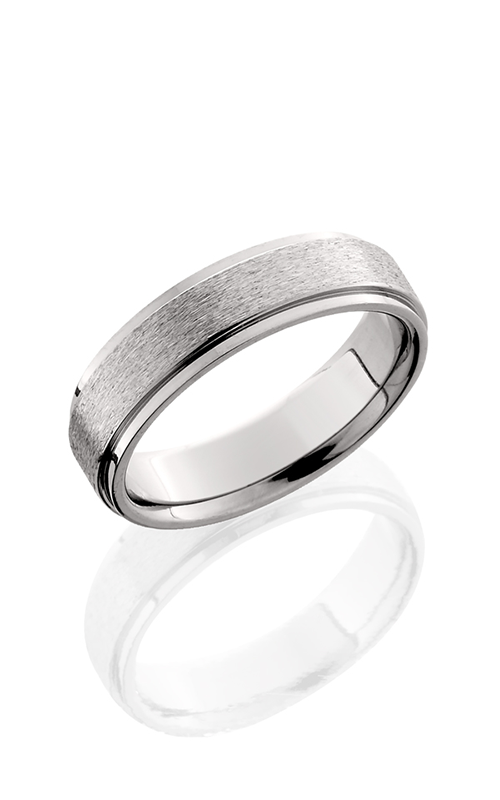 Lashbrook Titanium Wedding band 6FGE STONE POLISH product image