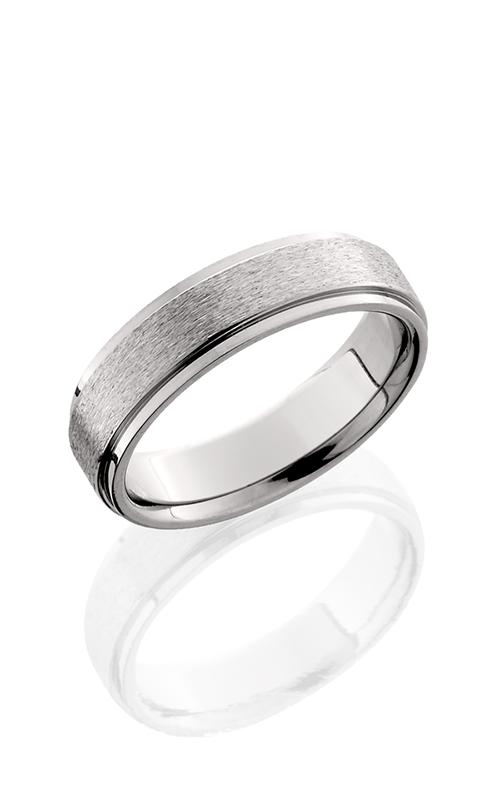 Lashbrook Titanium Wedding band 6FGE STONE POLISH product image