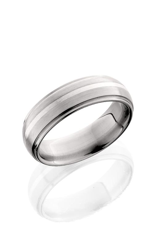Lashbrook Titanium Wedding band 7DGE11 SS SATIN POLISH product image