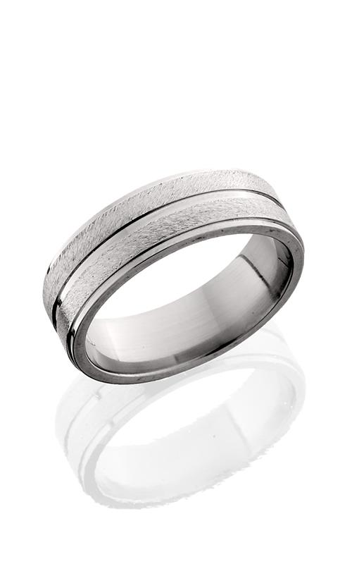 Lashbrook Titanium Wedding band 7FGE11 STONE POLISH product image