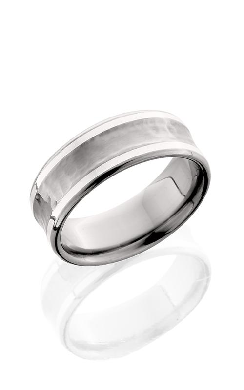 Lashbrook Titanium Wedding band 8CB21 SS HAMMER POLISH product image