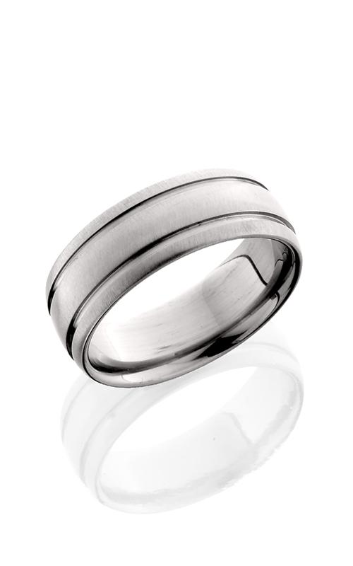Lashbrook Titanium Wedding band 8D21W CROSS BRUSH product image