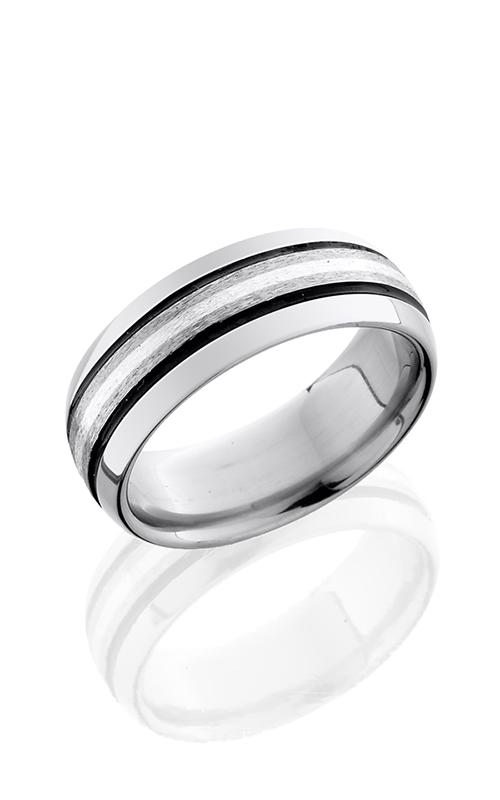 Lashbrook Titanium Wedding band 8D31 SSA STONE POLISH product image