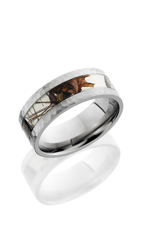 Lashbrook Titanium Wedding band 8F14 MOCWINTERBREAKUP HAMMER product image