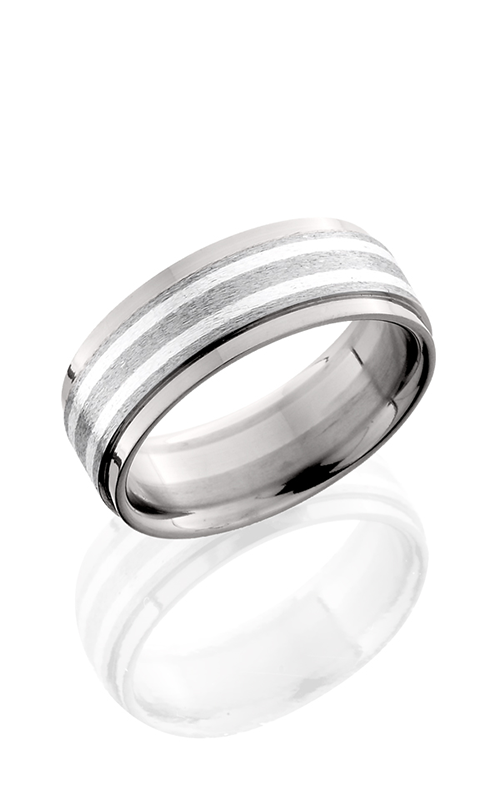 Lashbrook Titanium Wedding band 8FGEW21 SS STONE POLISH product image