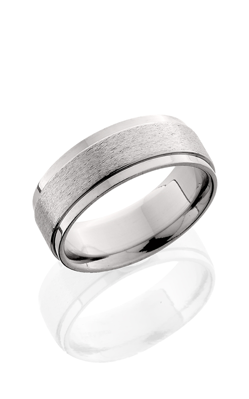 Lashbrook Titanium Wedding band 8FGEW STONE POLISH product image