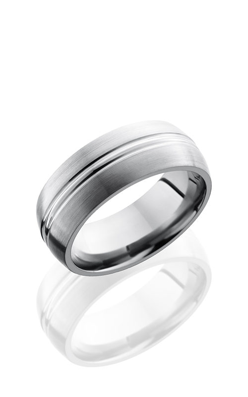 Lashbrook Cobalt Chrome Wedding band CC8DD POLISH-SATIN product image