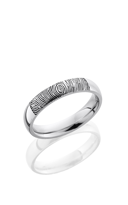 Lashbrook Cobalt Chrome Wedding band CC4D LCVFINGERPRINT2 product image