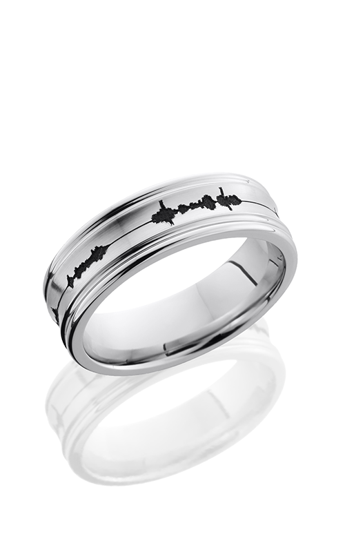Lashbrook Cobalt Chrome Wedding band CC7REC LCVSOUNDWAVE product image