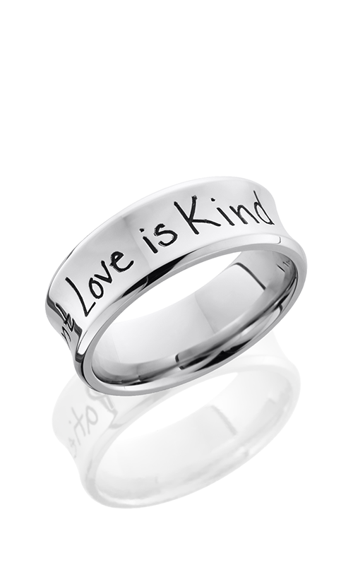 Lashbrook Cobalt Chrome Wedding band CC8CB LCVHANDWRITING product image