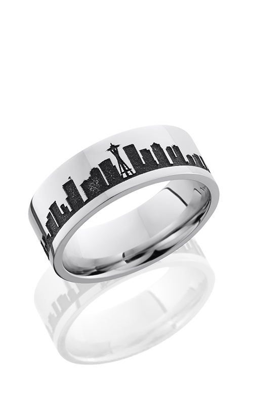 Lashbrook Cobalt Chrome Wedding band CC8F LCVSEATTLESKYLINE product image