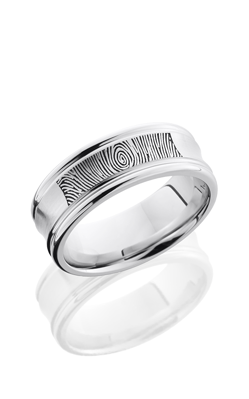Lashbrook Cobalt Chrome Wedding band CC8REC LCVFINGERPRINT product image