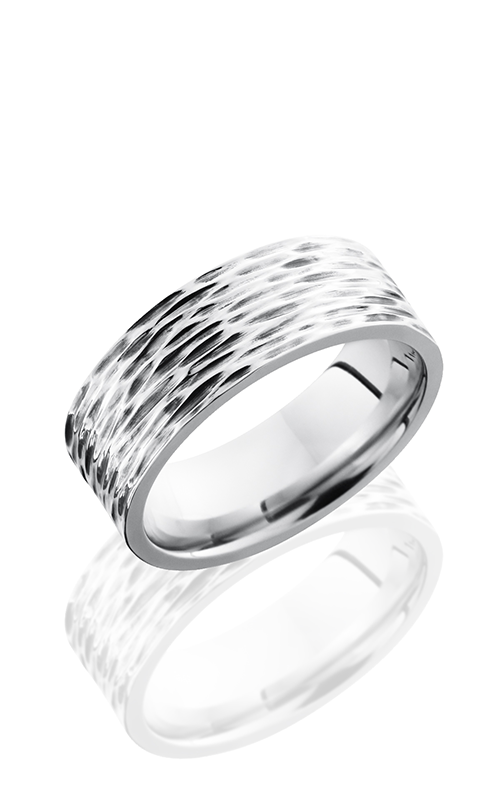 Lashbrook Cobalt Chrome Wedding band CC8F TREEBARK 3 product image