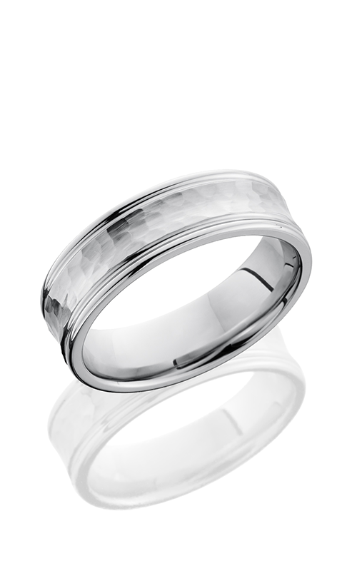 Lashbrook Cobalt Chrome Wedding band CC7REC HAMMER-POLISH product image