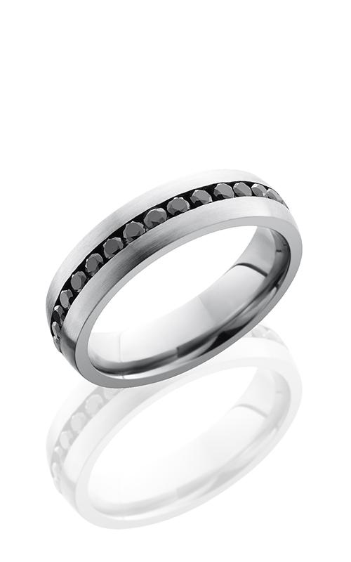 Lashbrook Cobalt Chrome Wedding band CC6DETERNITYBLKDIA product image