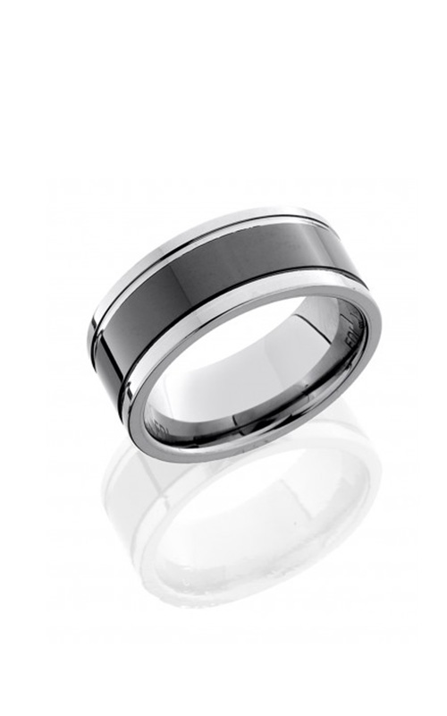 Lashbrook Tungsten Ceramic Wedding band CT09TG142-POLISH product image