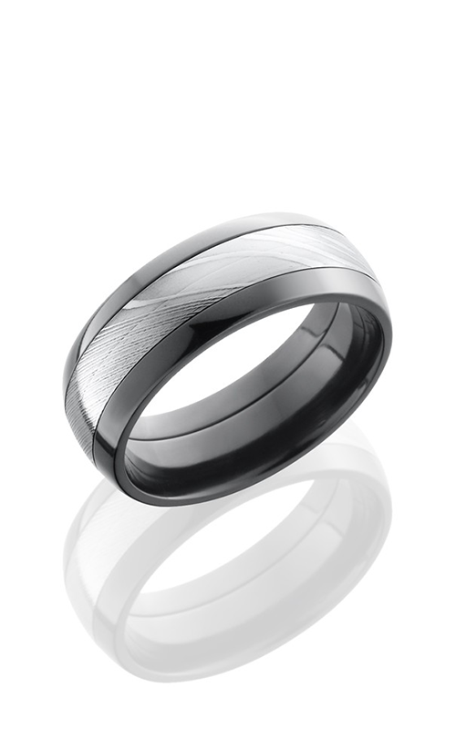 Lashbrook Zirconium Wedding band ZPF8D14 DAMASCUS product image