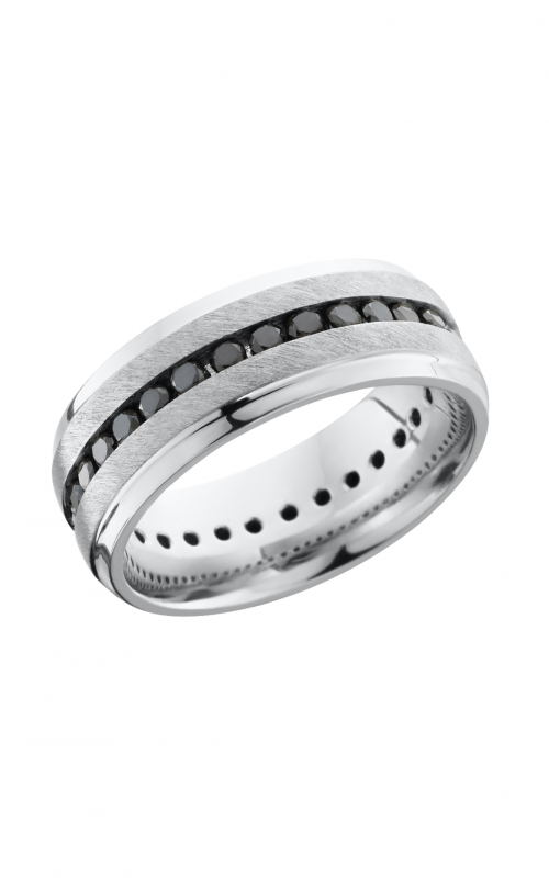 Lashbrook Titanium Wedding band 8B S ETERNITYBLKDIA 04CH product image