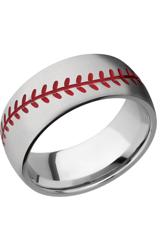 Lashbrook Titanium Wedding band 8DBASEBALL A RED product image