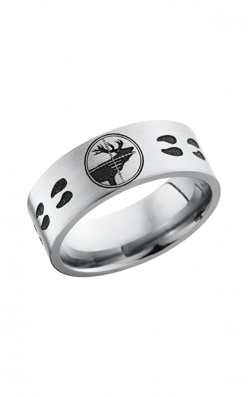 Lashbrook Titanium Wedding band 8F_LCVELKTARGETTRACKS product image
