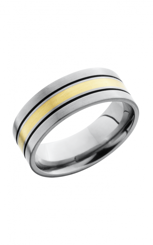 Lashbrook Titanium Wedding band 8F122/5_14KYA BLACK product image