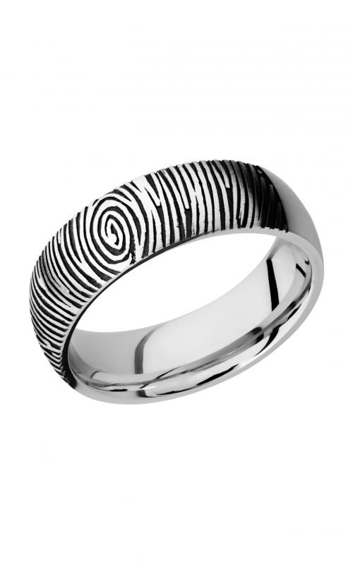 Lashbrook Cobalt Chrome Wedding band CC7D_LCVFINGERPRINT2 product image
