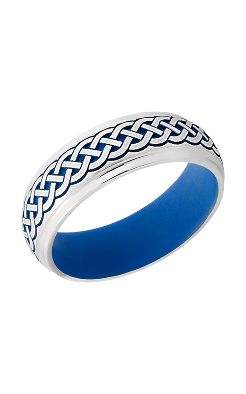 Lashbrook Cobalt Chrome Wedding band CC7DGE_LCVCELTIC9_NRABLUEINANDOUT product image