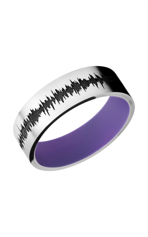 Lashbrook Cobalt Chrome Wedding band CC7F_LCVSOUNDWAVE_BRIGHTPURPLEIN product image