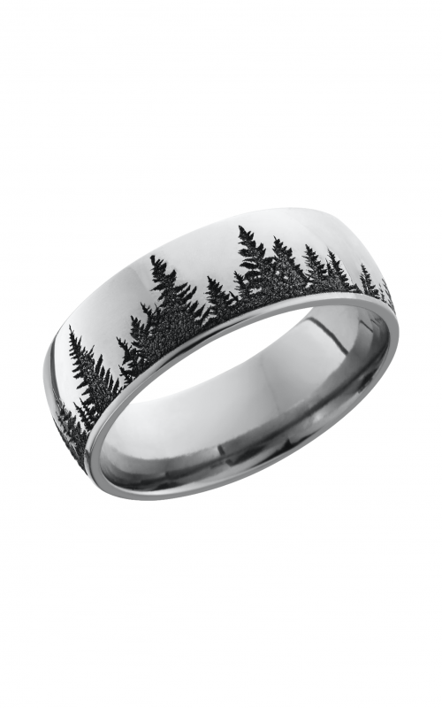 Lashbrook Cobalt Chrome Wedding band CC8D_LCVTREES product image