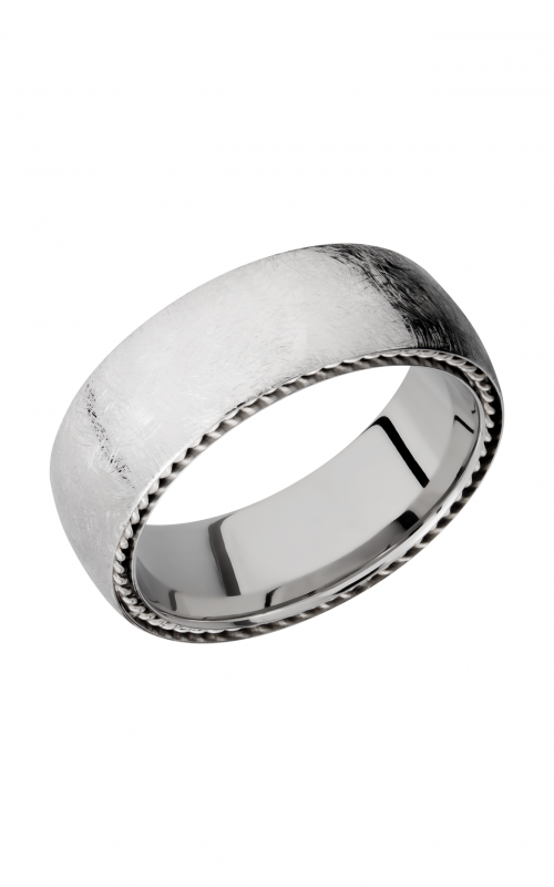 Lashbrook Cobalt Chrome Wedding band CC8DSIDEBRAID_SS product image