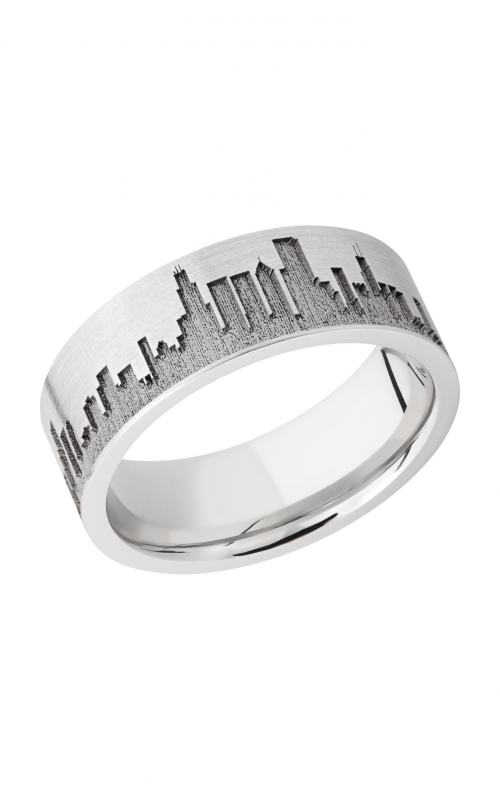 Lashbrook Cobalt Chrome Wedding band CC8F_LCVCHICAGOSKYLINE product image