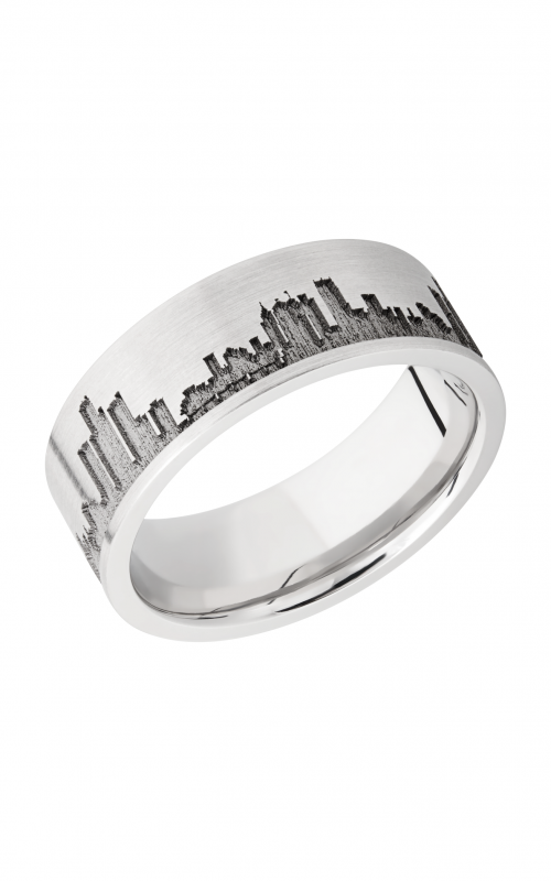 Lashbrook Cobalt Chrome Wedding band CC8F_LCVDETROITSKYLINE product image