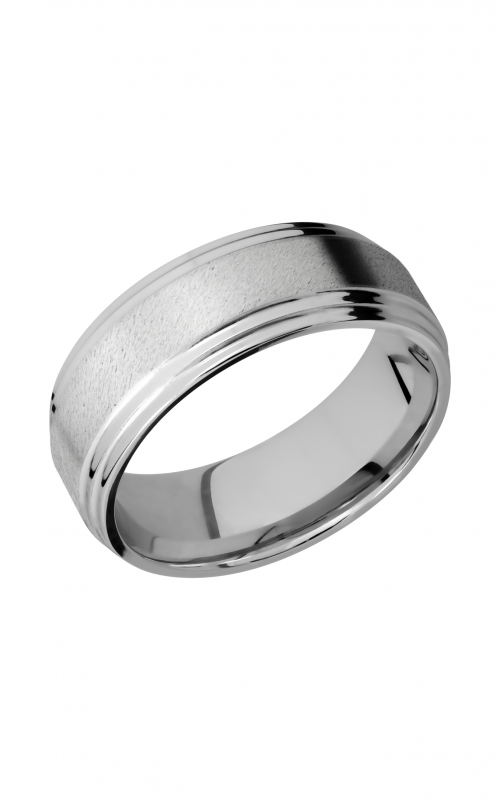 Lashbrook Cobalt Chrome Wedding band CC8F2S ANGLE product image