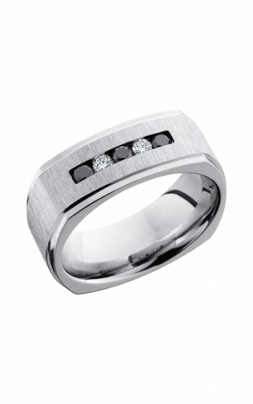 Lashbrook Cobalt Chrome Wedding band CC8FGESQBLKDIA3X.05DIA2X.05CH product image