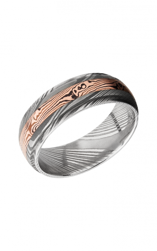 Lashbrook Damascus Steel Wedding band D7DGE13_M14KRSH product image