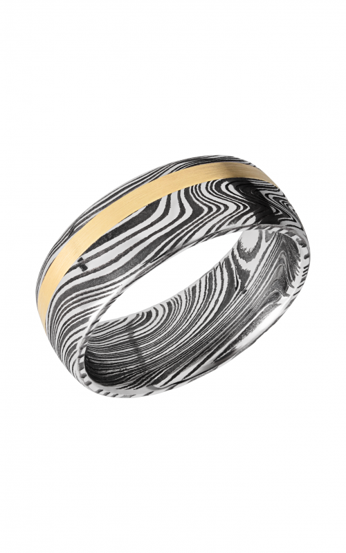 Lashbrook Damascus Steel Wedding band D8D12OCMARBLE_14KY product image