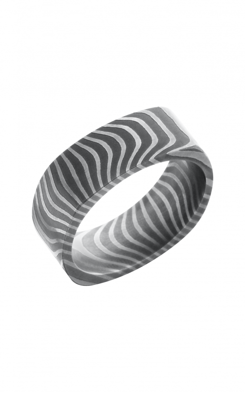 Lashbrook Damascus Steel Wedding band D8SQFTIGER product image