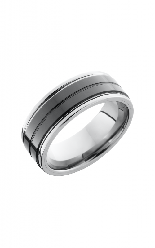 Lashbrook Tungsten Ceramic Wedding band TCR8422_POLISH product image