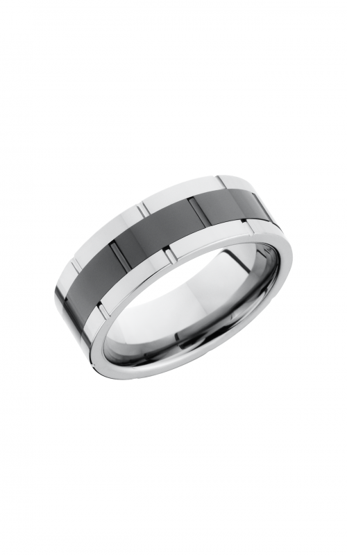 Lashbrook Tungsten Ceramic Wedding band TCR9098_POLISH product image