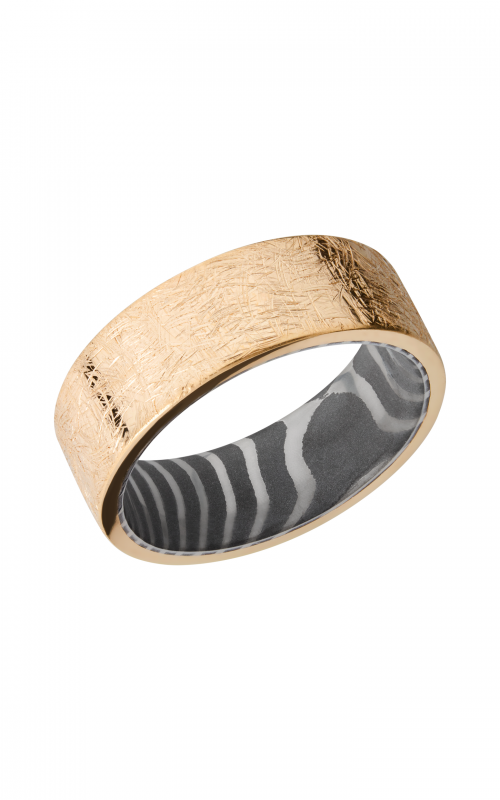 Lashbrook Damascus Steel Wedding band TIGERSLEEVE14KY8FR product image