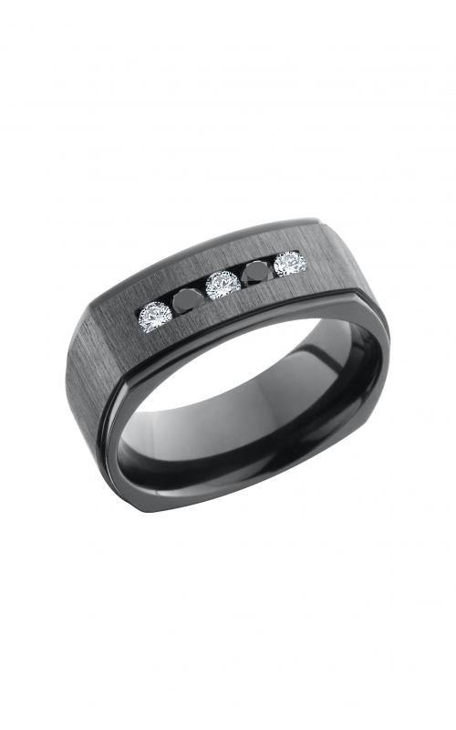 Lashbrook Zirconium Wedding band Z8FGESQDIA3X_05BLKDIA2X product image